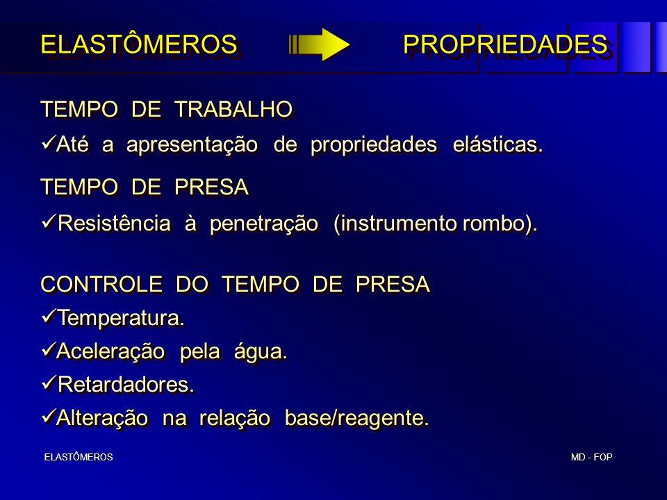 ELASTÔMEROS PROPRIEDADES