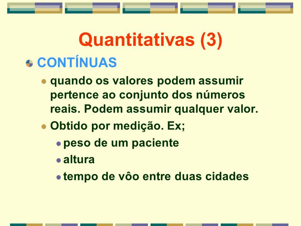 Quantitativas (3) CONTÍNUAS