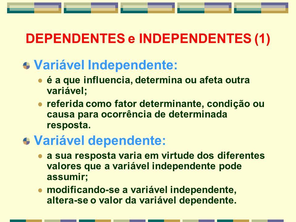 DEPENDENTES e INDEPENDENTES (1)
