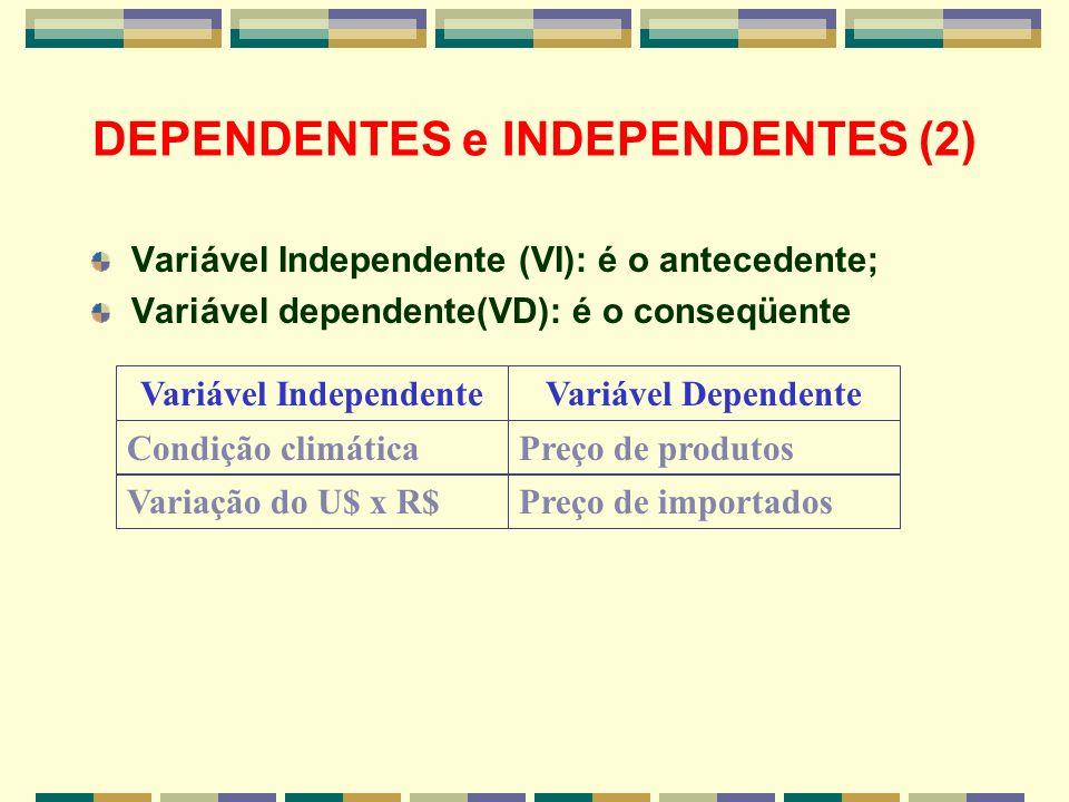 DEPENDENTES e INDEPENDENTES (2)