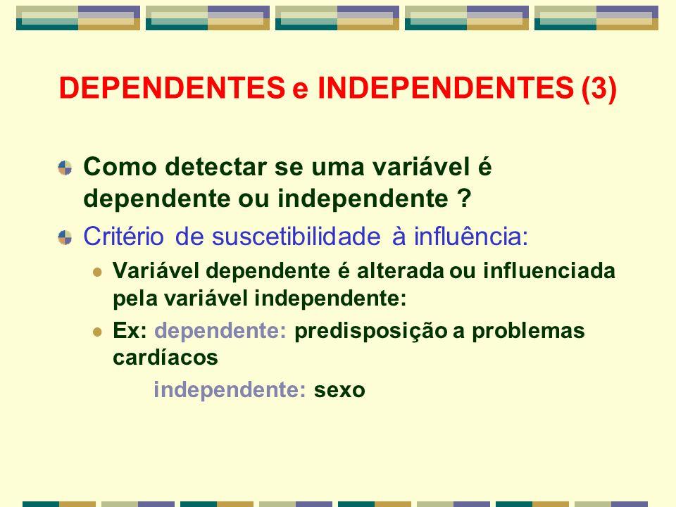 DEPENDENTES e INDEPENDENTES (3)