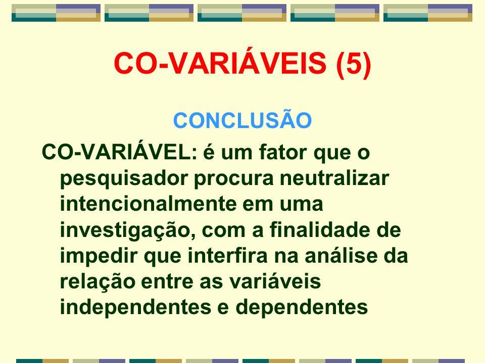 CO-VARIÁVEIS (5) CONCLUSÃO