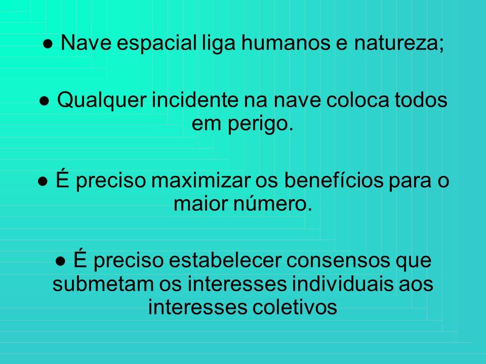 ● Nave espacial liga humanos e natureza;