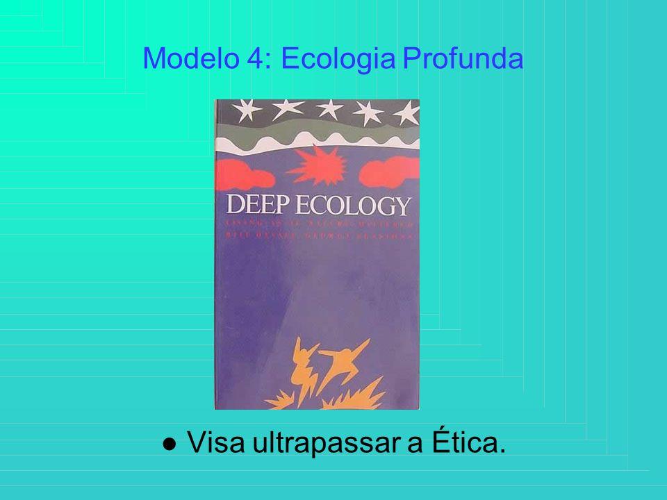 Modelo 4: Ecologia Profunda ● Visa ultrapassar a Ética.