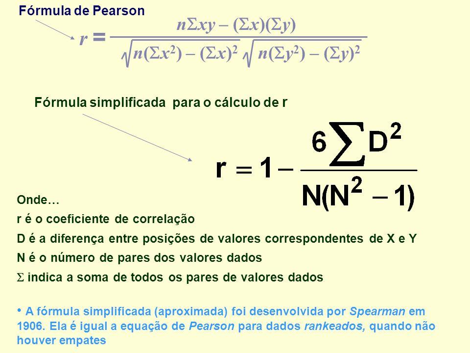 Fórmula simplificada para o cálculo de r