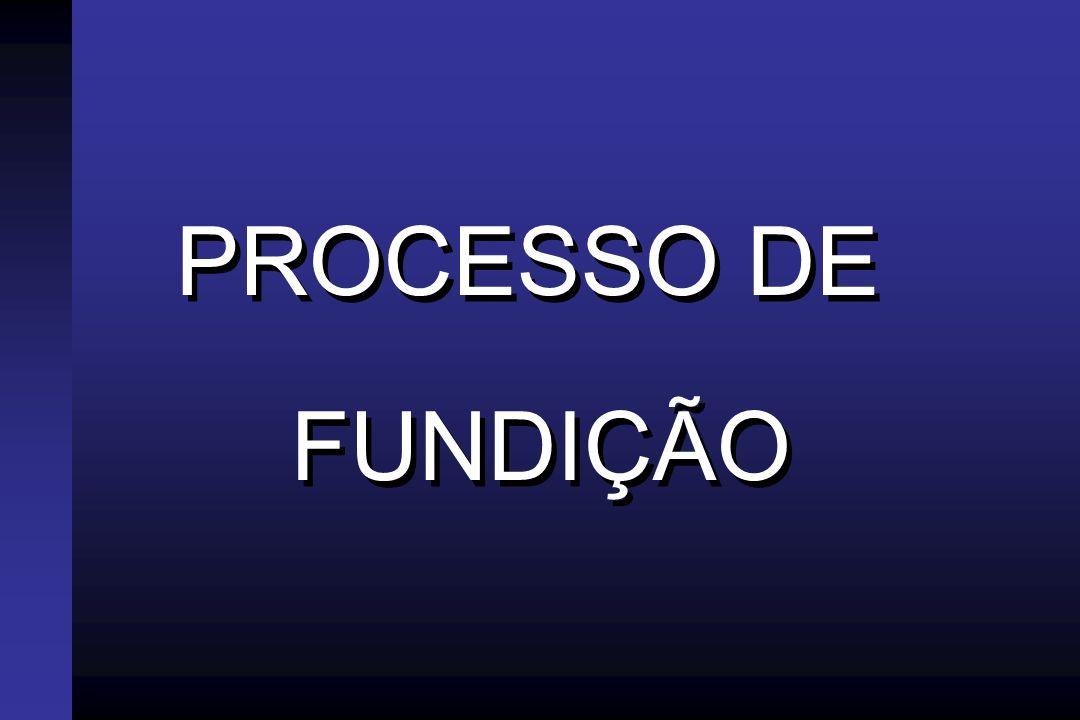 PROCESSO DE FUNDIÇÃO