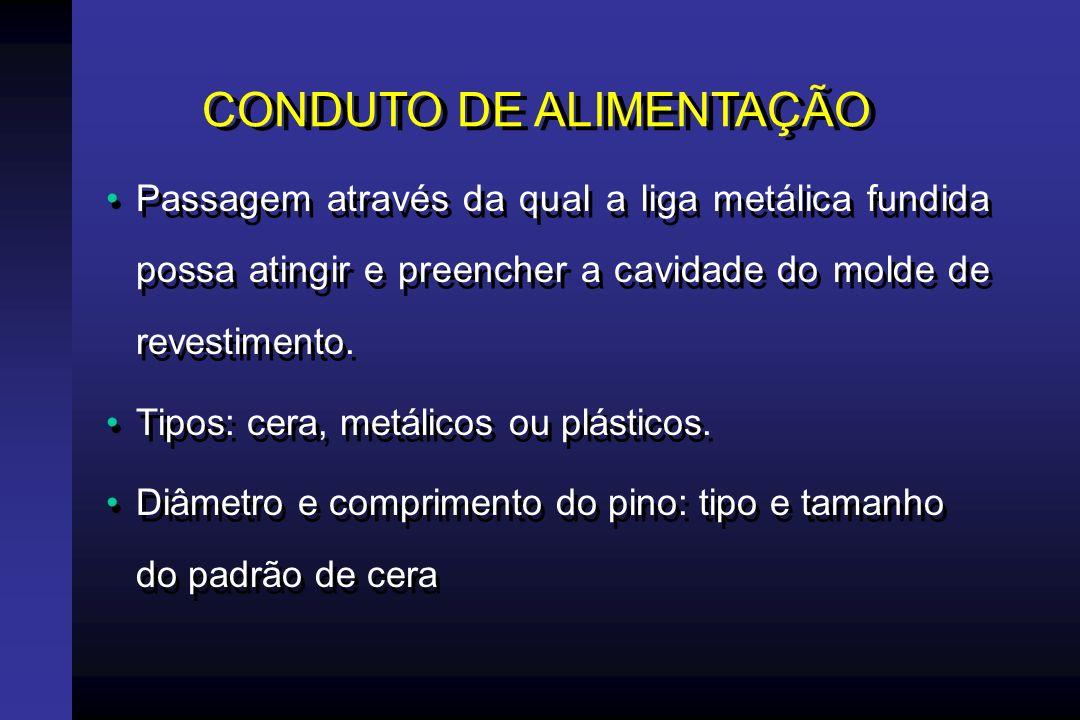 CONDUTO DE ALIMENTAÇÃO