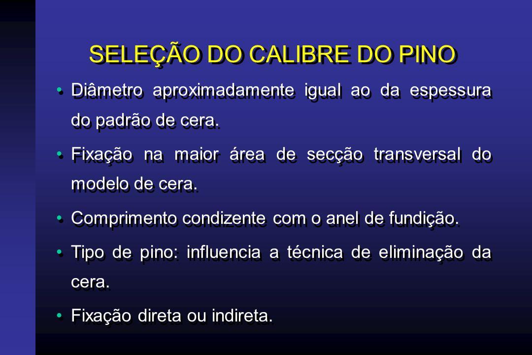 SELEÇÃO DO CALIBRE DO PINO