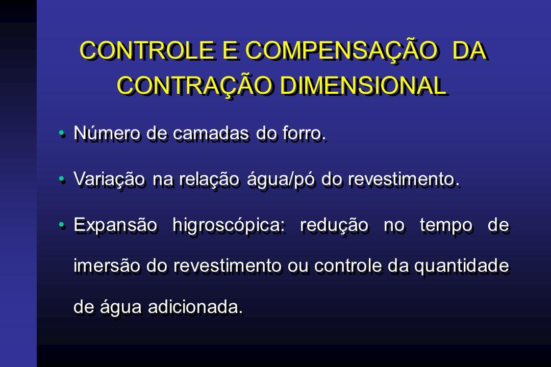 CONTROLE E COMPENSAÇÃO DA CONTRAÇÃO DIMENSIONAL