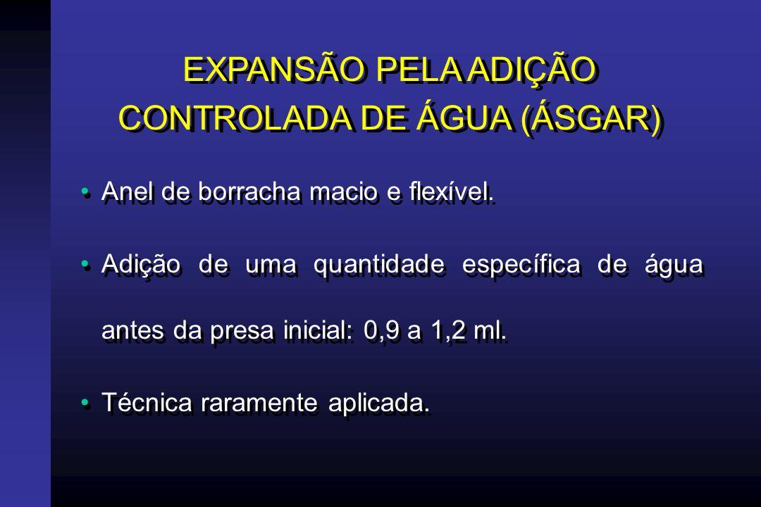 EXPANSÃO PELA ADIÇÃO CONTROLADA DE ÁGUA (ÁSGAR)