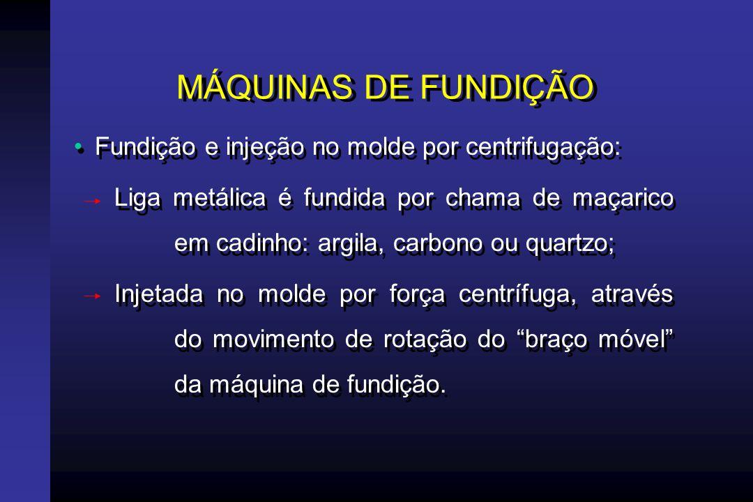 MÁQUINAS DE FUNDIÇÃO Fundição e injeção no molde por centrifugação: