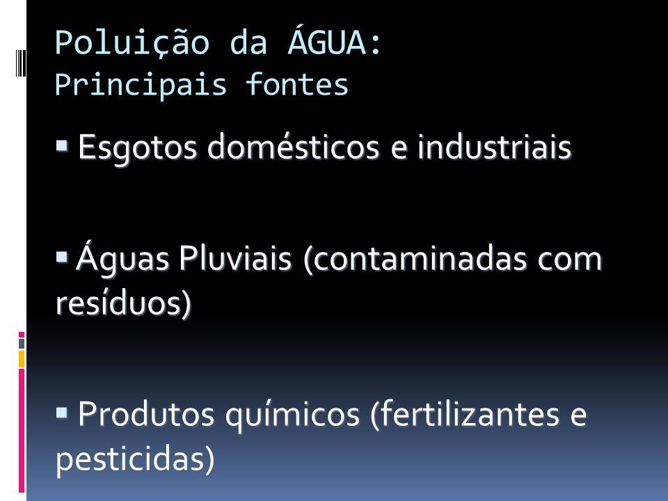 Poluição da ÁGUA: Principais fontes