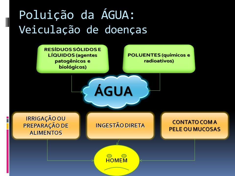Poluição da ÁGUA: Veiculação de doenças