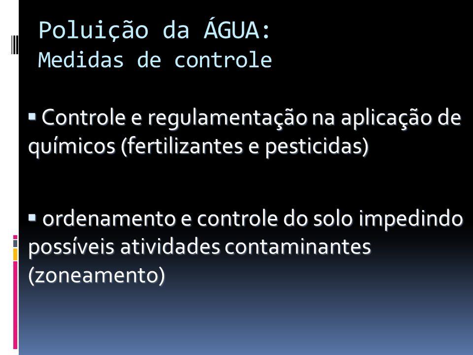 Poluição da ÁGUA: Medidas de controle
