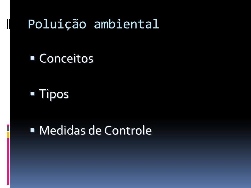 Poluição ambiental Conceitos Tipos Medidas de Controle