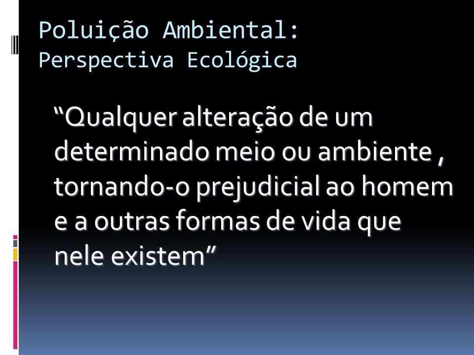 Poluição Ambiental: Perspectiva Ecológica