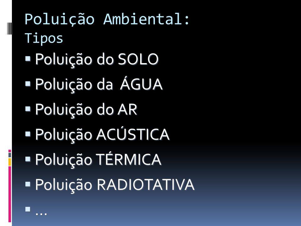 Poluição Ambiental: Tipos