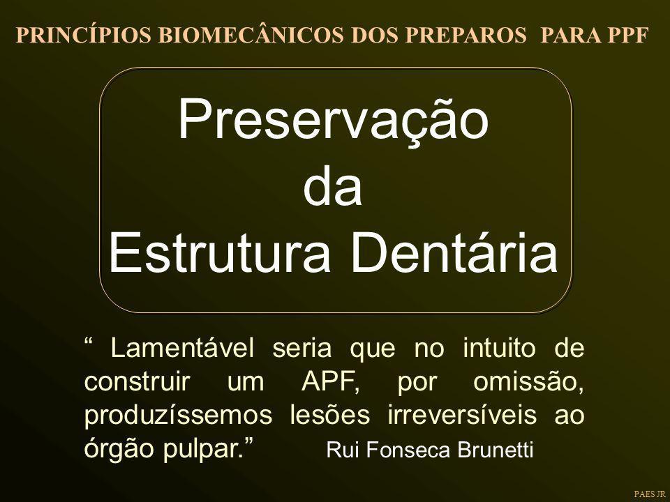Preservação da Estrutura Dentária