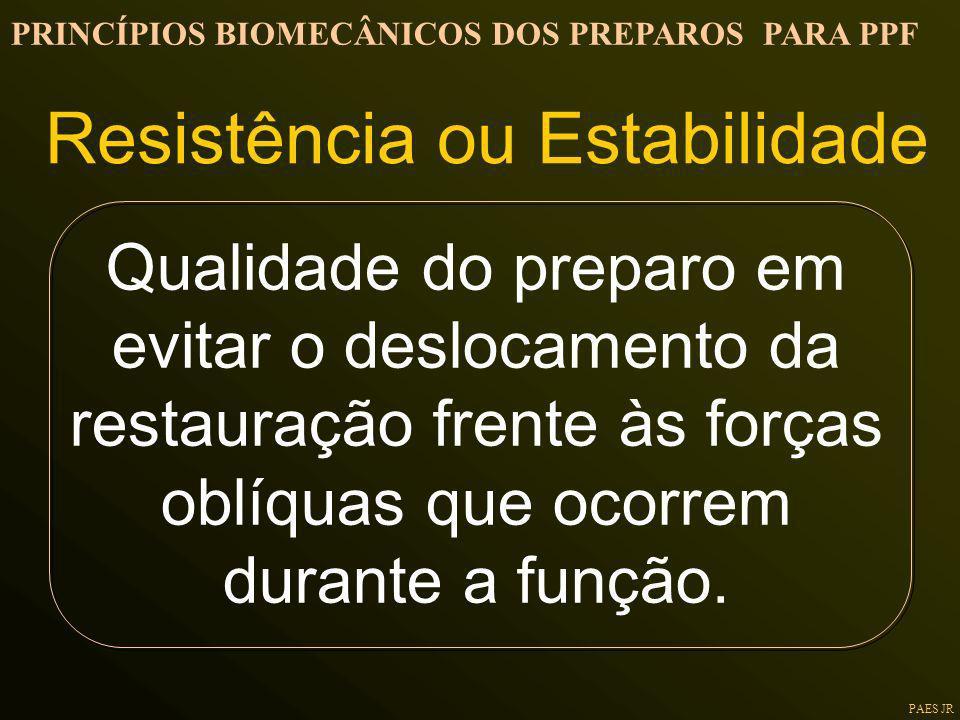 Resistência ou Estabilidade