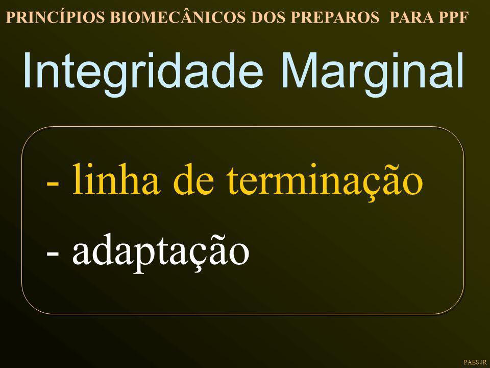 Integridade Marginal - linha de terminação - adaptação