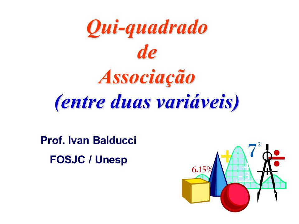 Qui-quadrado de Associação (entre duas variáveis)