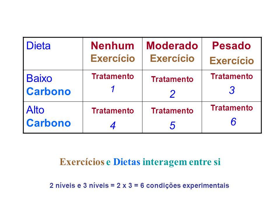 Exercícios e Dietas interagem entre si