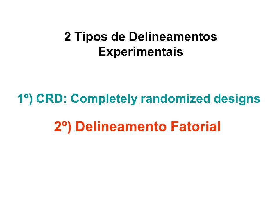 2 Tipos de Delineamentos Experimentais