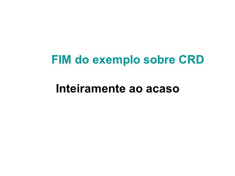FIM do exemplo sobre CRD