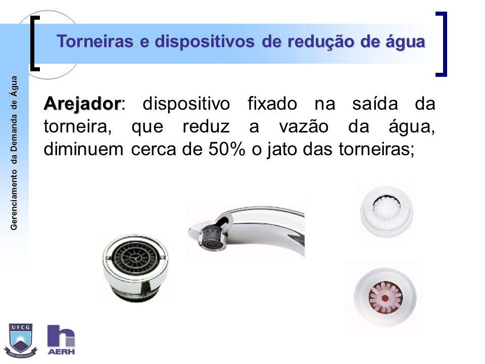 Torneiras e dispositivos de redução de água