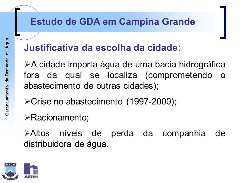 Estudo de GDA em Campina Grande