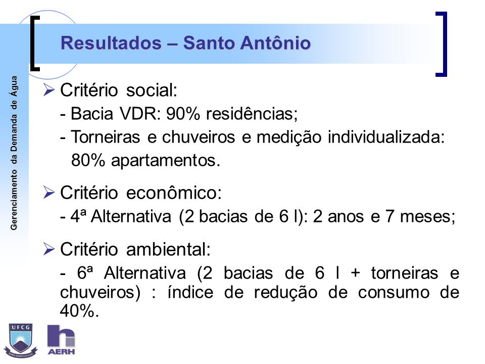 Resultados – Santo Antônio