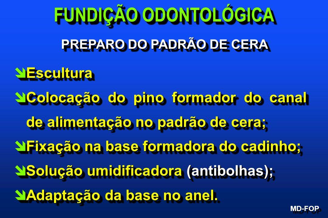 FUNDIÇÃO ODONTOLÓGICA PREPARO DO PADRÃO DE CERA