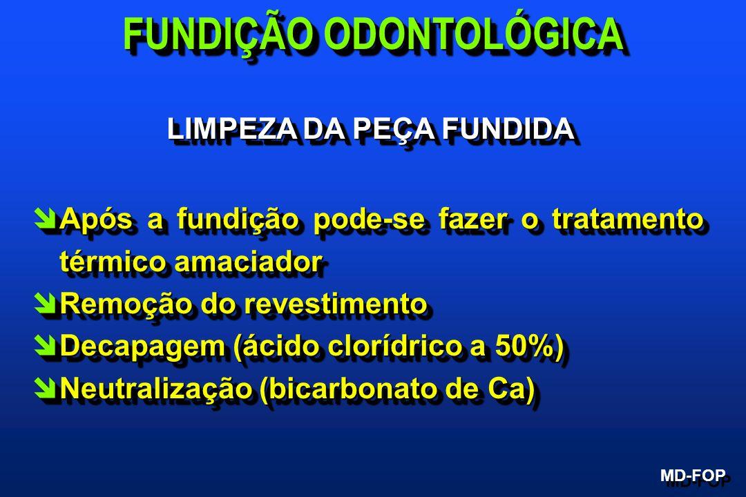 FUNDIÇÃO ODONTOLÓGICA LIMPEZA DA PEÇA FUNDIDA