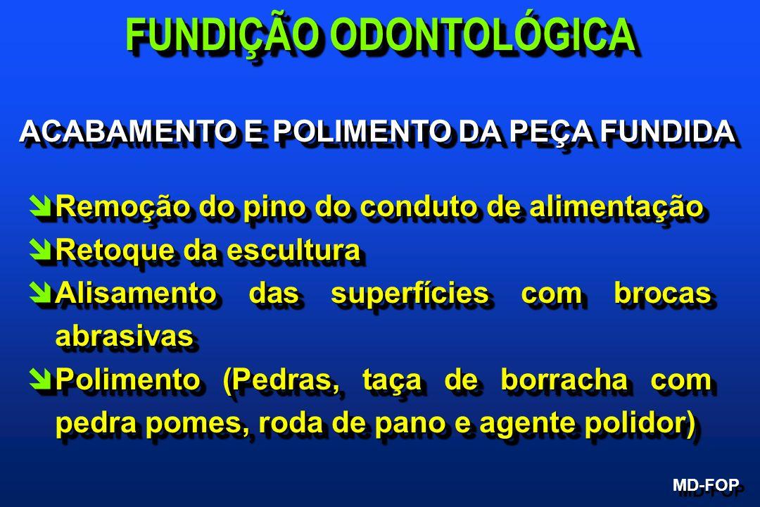 FUNDIÇÃO ODONTOLÓGICA ACABAMENTO E POLIMENTO DA PEÇA FUNDIDA