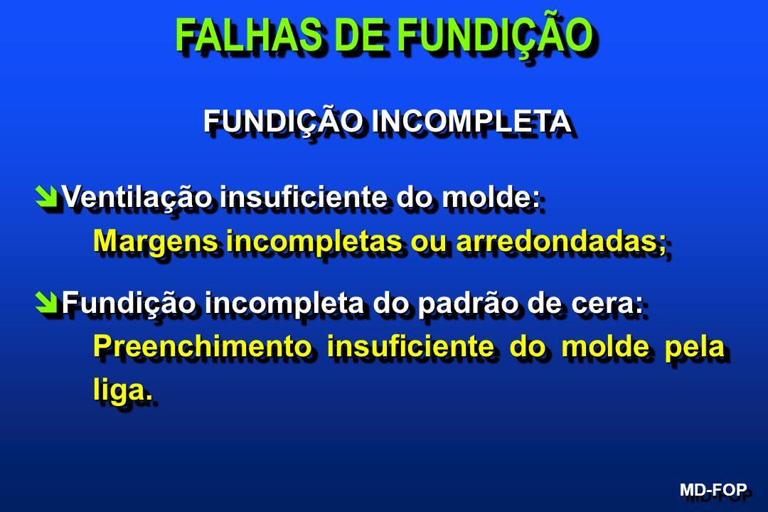 FALHAS DE FUNDIÇÃO FUNDIÇÃO INCOMPLETA