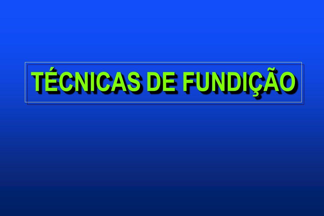 TÉCNICAS DE FUNDIÇÃO