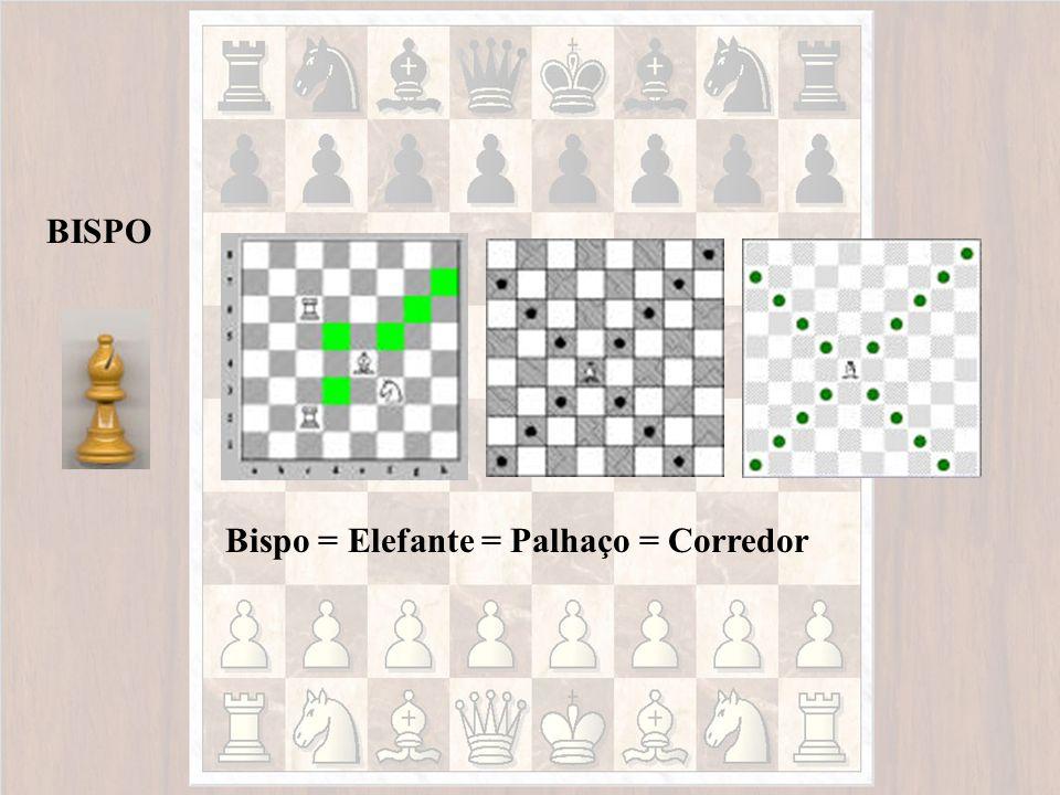 Bispo = Elefante = Palhaço = Corredor