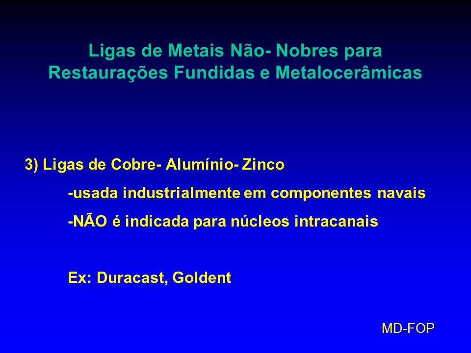 Ligas de Metais Não- Nobres para Restaurações Fundidas e Metalocerâmicas