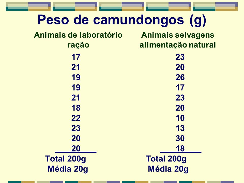Peso de camundongos (g)
