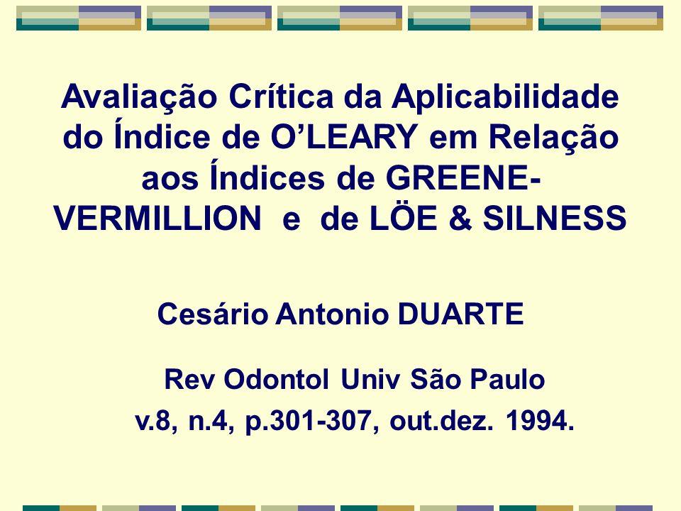 Cesário Antonio DUARTE Rev Odontol Univ São Paulo