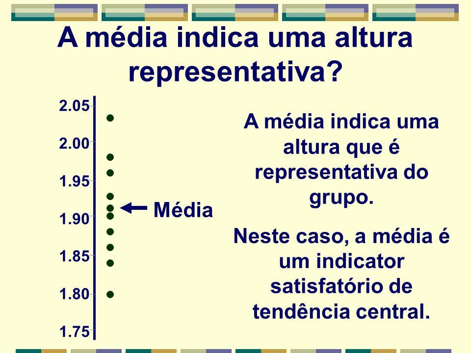 A média indica uma altura representativa