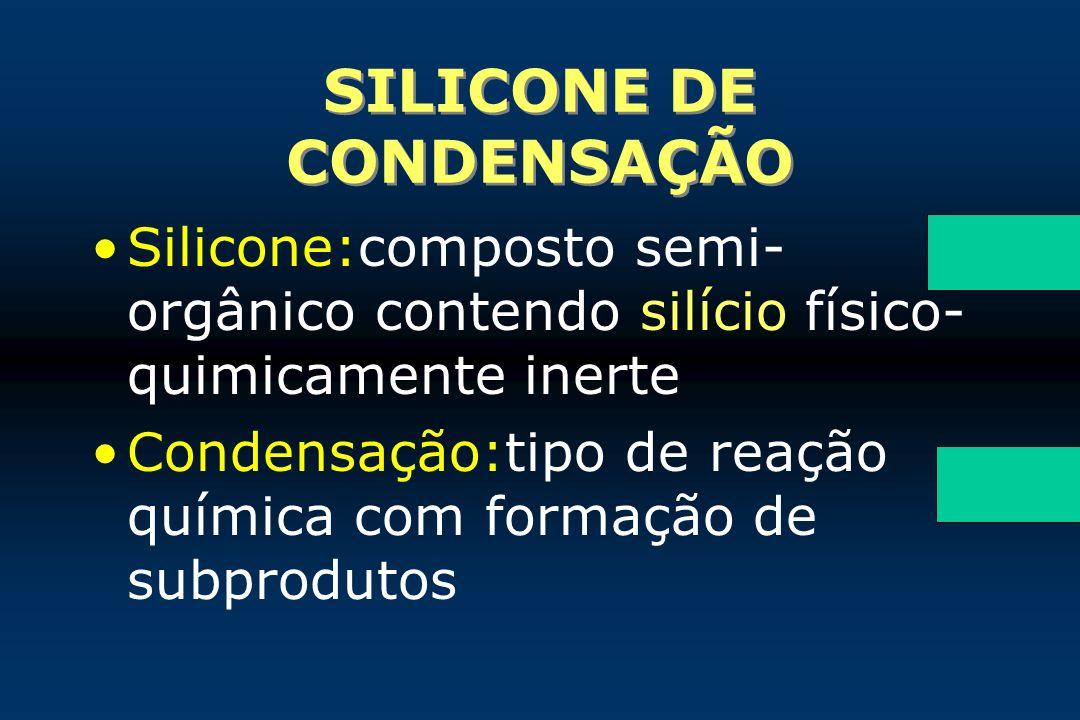 SILICONE DE CONDENSAÇÃO