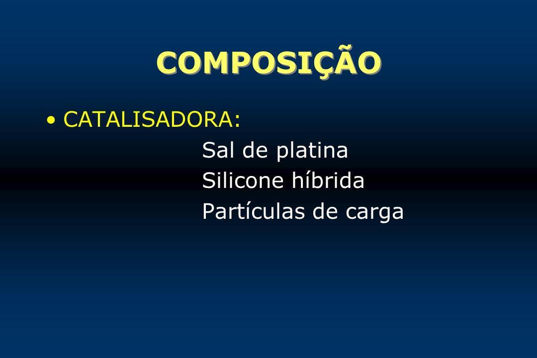 COMPOSIÇÃO CATALISADORA: Sal de platina Silicone híbrida