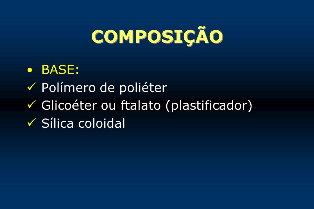 COMPOSIÇÃO BASE: Polímero de poliéter