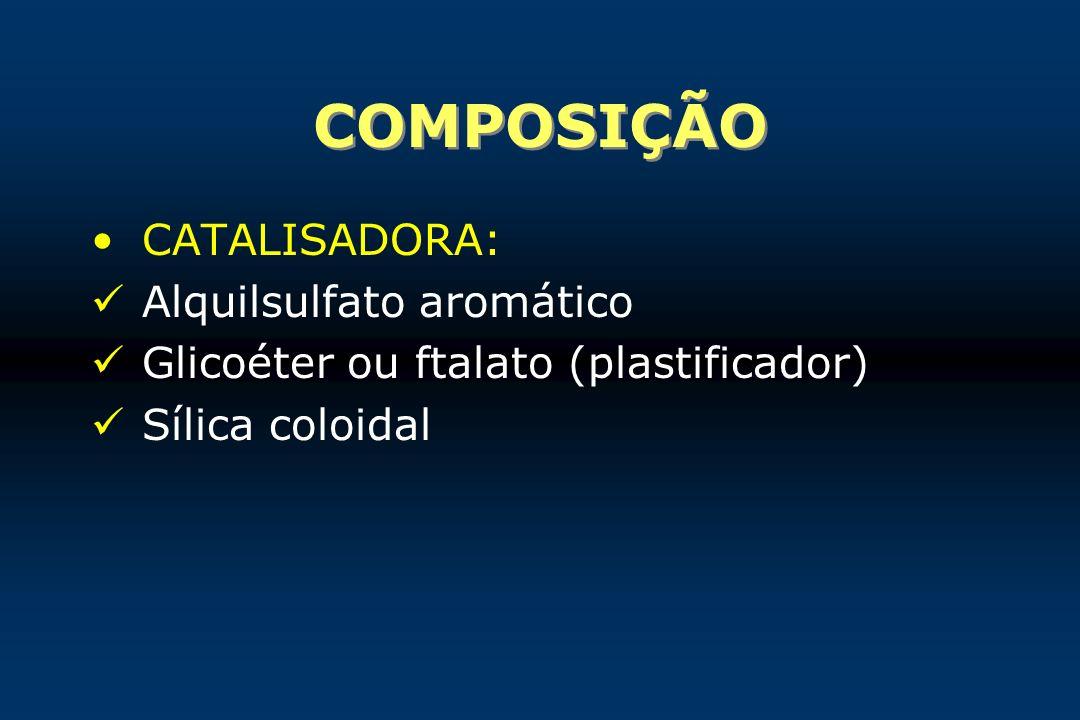 COMPOSIÇÃO CATALISADORA: Alquilsulfato aromático