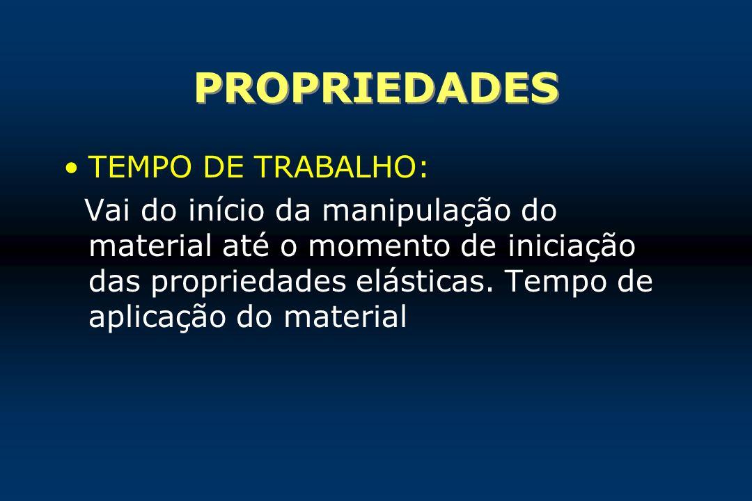 PROPRIEDADES TEMPO DE TRABALHO: