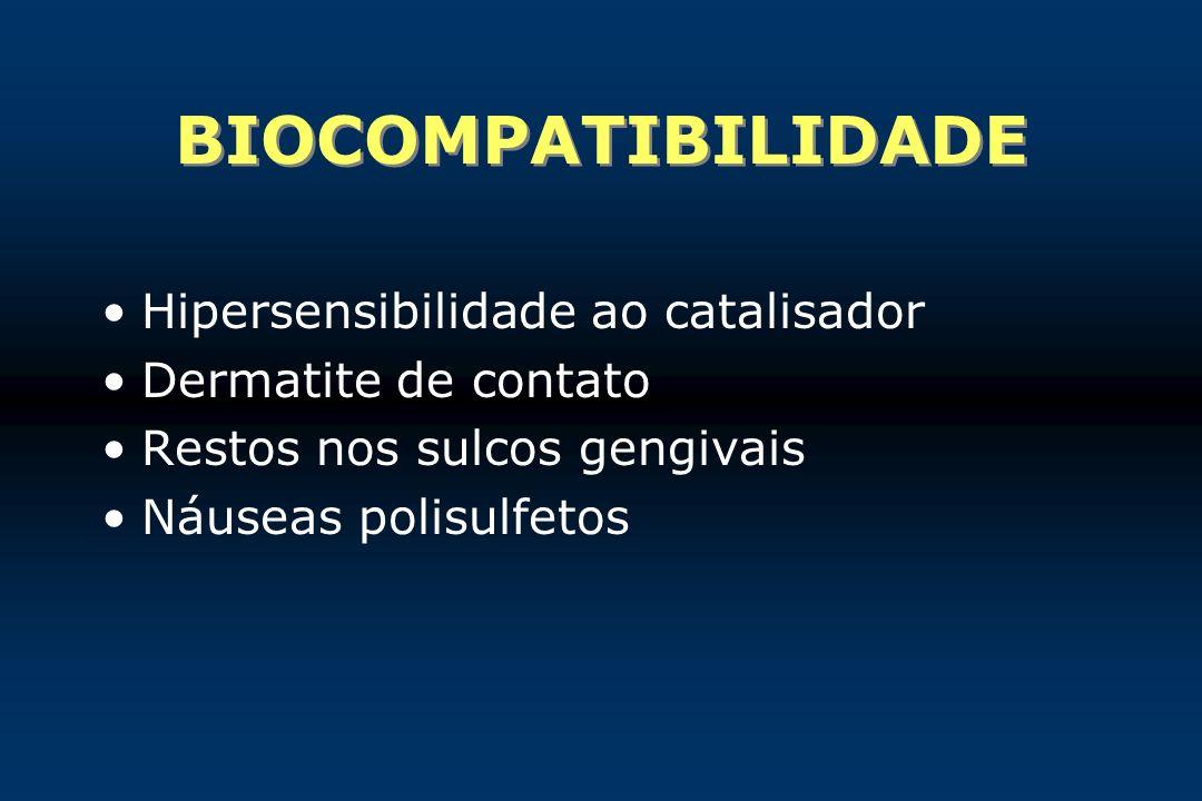 BIOCOMPATIBILIDADE Hipersensibilidade ao catalisador