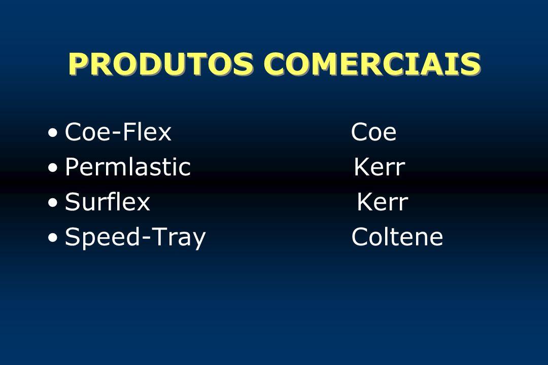 PRODUTOS COMERCIAIS Coe-Flex Coe Permlastic Kerr Surflex Kerr