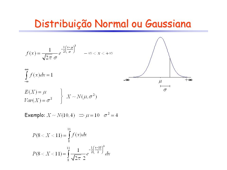 Distribuição Normal ou Gaussiana