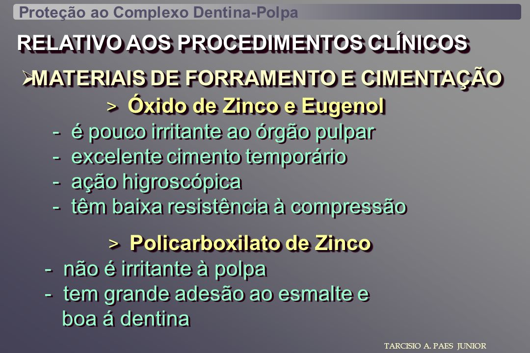 RELATIVO AOS PROCEDIMENTOS CLÍNICOS
